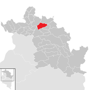 Location of the municipality of Doren in the Bregenz district (clickable map)