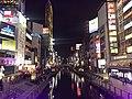 Dotomborigawa River from Ebisubashi Bridge at night (east).jpg