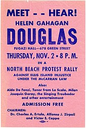 poster urging voters to attend a Douglas rally