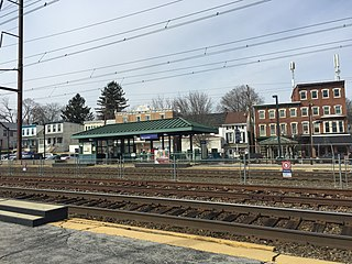 Downingtown station rail station in Downingtown, Pennsylvania