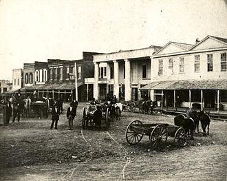 Huntsville, Texas - Downtown Huntsville in the 1870s.