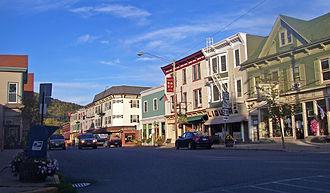 Margaretville, New York - Main Street from Walnut Street to Bridge Street near NY 30