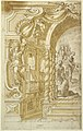 Drawing, Design for an Illusionistic Wall Decoration, with a King Accompanied by Soliders, 1703 (CH 18540789).jpg