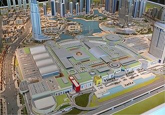 Emaar Properties - A scale model of The Dubai Mall