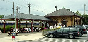 Durham–UNH station - The 1896-built station houses the UNH Dairy Bar.