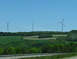 Dutch Hill/Cohocton Wind Farm - The windmills from Interstate 390
