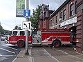 E-One fire engine Saint Johnsbury Fire Station Main Street downtown Saint Johnsbury VT June 2018.jpg