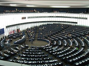 Hemicycle of the European Parliament in Strasb...