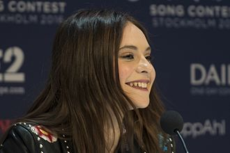 Francesca Michielin - Michielin at a press conference during the Eurovision Song Contest 2016 in Stockholm.