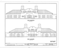 East and West Elevation - Atlantic Coastline Railroad Station, 1402 Sligh Boulevard, Orlando, Orange County, FL HABS FLA,48-ORL,1- (sheet 4 of 6).png