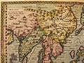 Eastern Asia, in a miniature atlas map by Matthias Quad, from 'Geographisch Handtbuch (nort west).jpg
