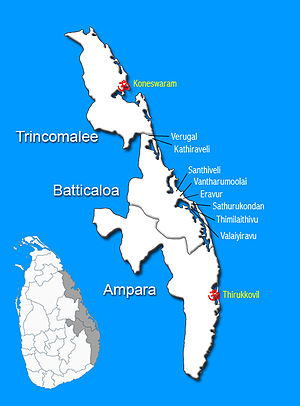 History of Eastern Tamils - Historical Tamil settlements in the East.Tamils and the Tamil-speaking Muslim community formed the majority of the province prior to the Independence of the island