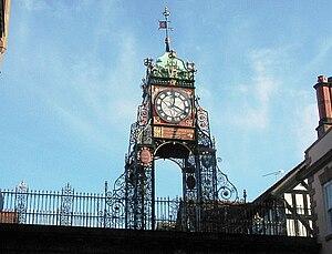 J. B. Joyce & Co - The Eastgate Clock in Chester. Clock mechanism built by J. B. Joyce about 1899.