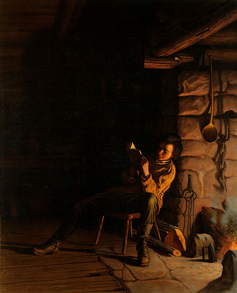 File:Eastman Johnson, The boyhood of Lincoln, an evening ...