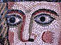 Ecclesia romana (particolare), XII sec. d.C., mosaico policromo, dalla Basilica di San Pietro.JPG