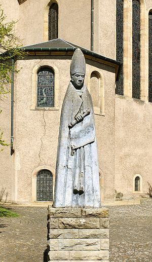 Willibrord - Statue of St Willibrord at Echternach