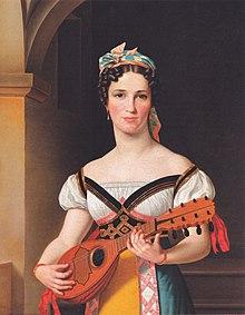 Eckersberg: Emilie Pohlmann als Preciosa 1825 (Quelle: Wikimedia)