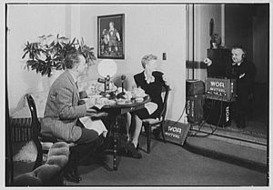 Pegeen Fitzgerald - Ed and Pegeen Fitzgerald broadcast over WOR radio at breakfast from their home at 15 E. 36th St., New York City.