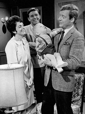 Edward Mallory - Mallory (right) on the Days of Our Lives set, 1968.