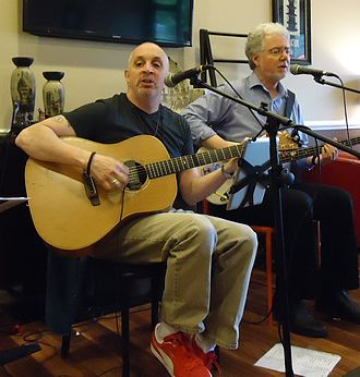 Edison, New Jersey - While many manufacturing jobs have left Edison, its Clara Barton District is seeing an economic resurgence. Photo: musicians perform at The Coffee House on Amboy Avenue.