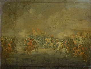 A cavalry attack