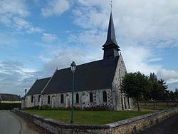 Eglise Saint-Aubin à Saint-Aubin-Guichard, Eure.JPG