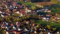 Luftbildaufnahme von der Gemeinde Eitting (Oberbayern)