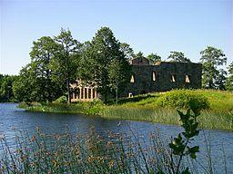 Eksjöhovgårds slotsruin beliggende i Sävsjös udkant