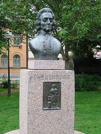 Mariatorget - Bust of Emanuel Swedenborg