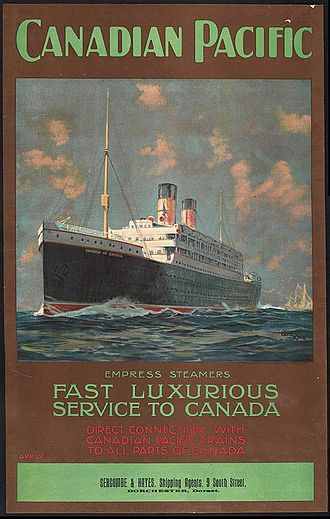 Canadian Pacific Limited - Empress steamship poster from 1920.