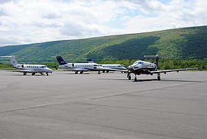 Williamsport Regional Airport - General aviation aircraft at Energy Aviation (a FBO) at IPT