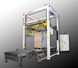 Logistics automation - Automatic wrapping machine for unit loads.