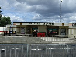 Entrance to West Monkseaton Metro Station - geograph.org.uk - 3583088.jpg