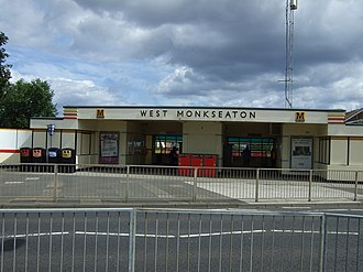 West Monkseaton Metro station - Image: Entrance to West Monkseaton Metro Station geograph.org.uk 3583088