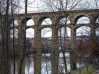 Enz - Railway viaduct over the Enz near Bietigheim-Bissingen