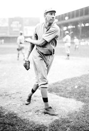 Eppa Rixey - Rixey warming up while as a member of the Phillies at the West Side Grounds in 1912.
