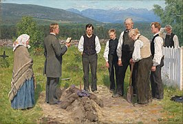 Erik Werenskiold - Peasant Burial - Google Art Project.jpg