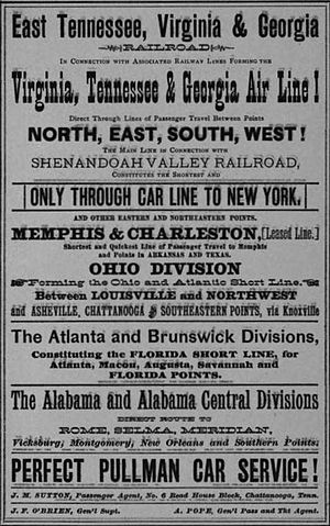 East Tennessee, Virginia and Georgia Railway