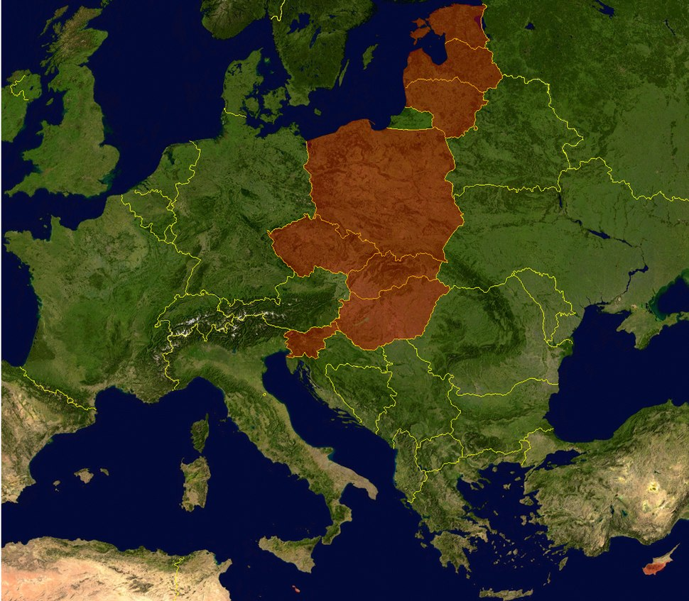 Eu expansion 2004 map