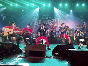 Indian pop - Euphoria (Indian band) perform at the Red Bull SoundClash Concert in Dubai in November 2014