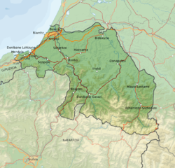 baskien karta Iparralde – Wikipedia baskien karta