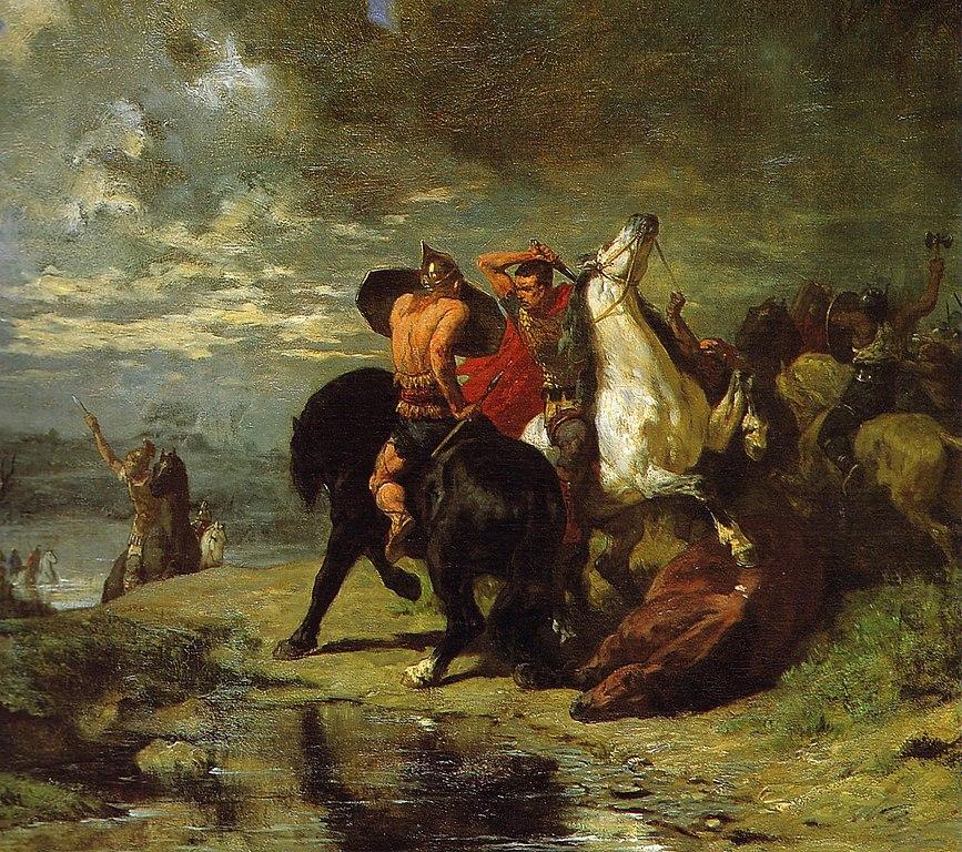 Évariste Vital Luminais - Combat de Romains et de Gaulois