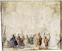 Exposition de mai, Place Dauphine, Gabriel de Saint-Aubin, 1769.jpg