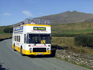 Express Motors - Open top ECW bodied Bristol VR at Rhyd Ddu in September 2006