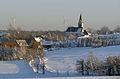 Fürstenau Winter Kirche mit Windräder by SpaceJ.jpg