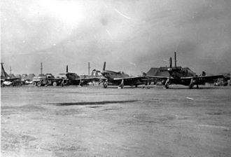 Gimpo International Airport - F51s at Kimpo (K14) Airfield, October 1950