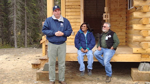 FEMA - 41941 - Home Dedication in Eagle, Alaska