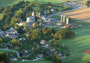 Ferrières, Belgium - Image: FERRIERES vu d'en haut jpg