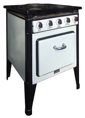 Frankfurt kitchen - The electric stove of the kitchen