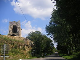 The ruins of the Chapelle St Martin in Camboulit